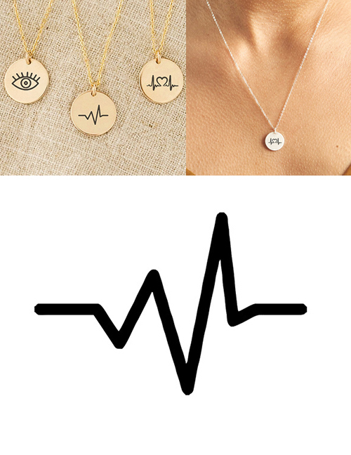 Fashion Steel Color Stainless Steel Single Hole Engraved Electrograph Adjustable Necklace 13mm
