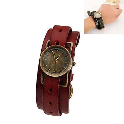 hurley claret pu leather pu watches asujewelry