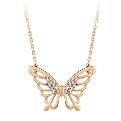 Magic Rose Gold Color Butterfly Design