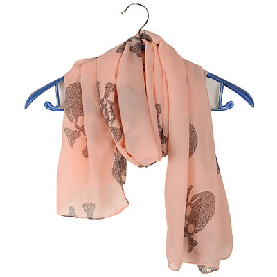 Trendy Black Cashew Nuts Pattern Decorated Color Mathing Scarf