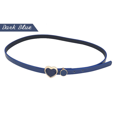 Doggie Blue Hollow Out Pendant Candy Color PU Thin belts