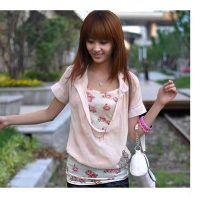 Fashion White Embroidery Flower Decorated Simple Vest