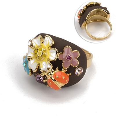 Portable Gold Color Elephant Alloy Fashion Rings