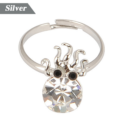 Fashion Gold Color+white Diamond&crown Shape Decorated Simple Design Alloy Fashion Rings