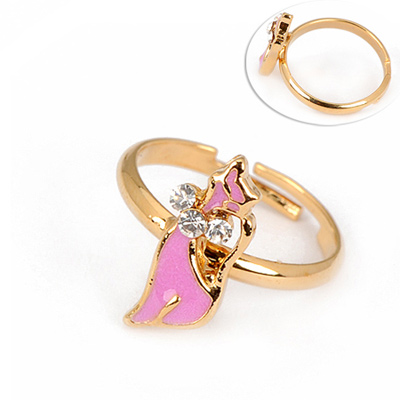 American White Ribbon Ring Alloy Fashion Rings