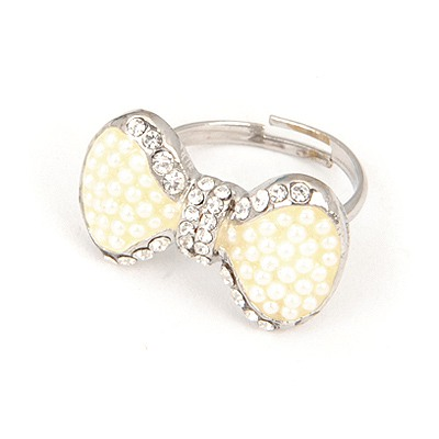 American White Ribbon Ring