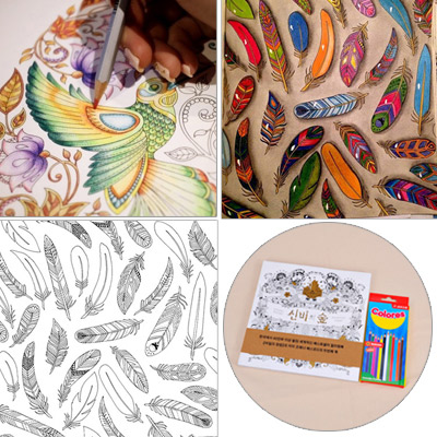 Personality Multicolor Decompression Enchanted Forest Hand Tintage Book Paper Crayon Other Creative Stationery