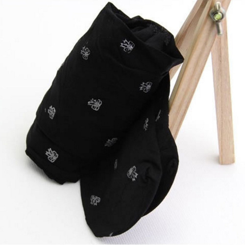 Fashion Black Bowknot Pattern Decorated Silk Stockings