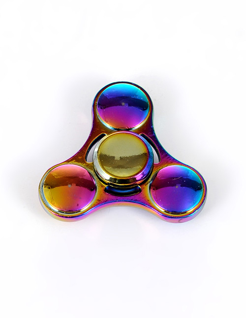 Trendy Multi-color Triangle Shape Decorated Simple Spinner