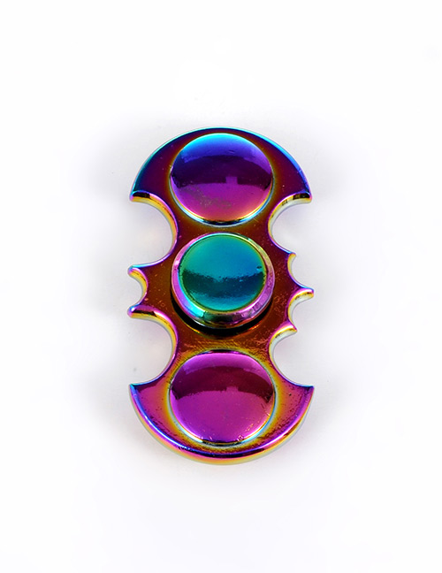 Trendy Multi-color Round Shape Decorated Simple Spinner
