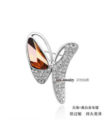 Musical Amber Brooch Alloy Crystal Brooches