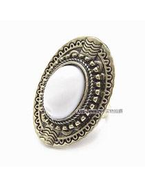 Squash White Stone Alloy Korean Rings