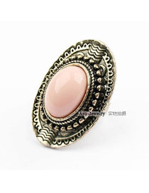 Exaggerated Silver Color Multi Layer Design Opening Ring