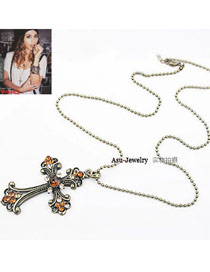 Eco Bronze Cross Alloy Korean Necklaces