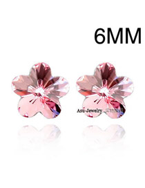 2013 light Plum Red Earrings Alloy Crystal Earrings