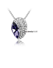 Homecoming pale pinkish purple Purple Specially Designed Crystal Crystal Necklaces