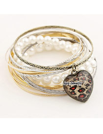 Fashion Gold Color Pure Color Decorated Opening Bracelet
