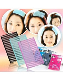 Fashion Blue Letter Pattern Decorated Color Matching Hair Band (20pcs)