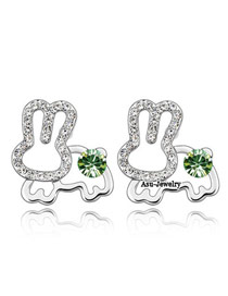 Inspiratio olive Green Earrings Alloy Crystal Earrings