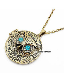 Turquoise silver color diamond decorated dolphins shape pendant design alloy Chains