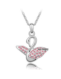 Rasta Light rose Red Implied Meaning Swan Princess Crystal Crystal Necklaces
