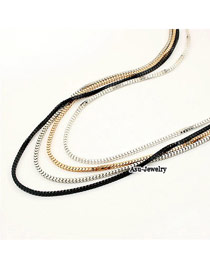Packaging Black 4 Color Consist Sweater Alloy Korean Necklaces