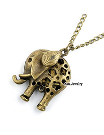 High Waist Bronze Hollow Out Calf Elephant Pendant