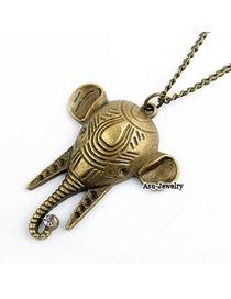 Upper Bronze Elephone Head Alloy Chains