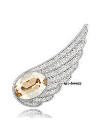 Snowboardi Champagne gold Champagne Champagne Brooch Alloy Crystal Brooches