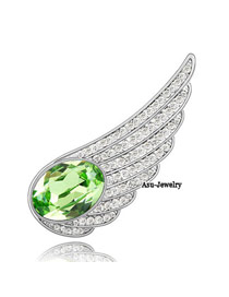 Convertibl olive Green Brooch Alloy Crystal Brooches