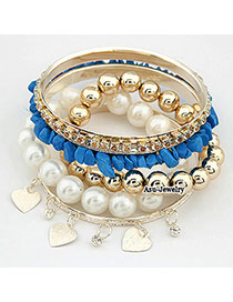 Butterfly Blue Multilayer Alloy Fashion Bangles
