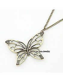 Simple Bronze Hollow Out Butterfly