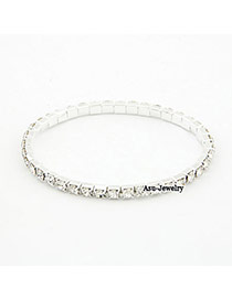 Personality Silver Color Palm Decorated Simple Bracelet