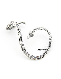Natural Antique Silver Snake Twine Charm Design