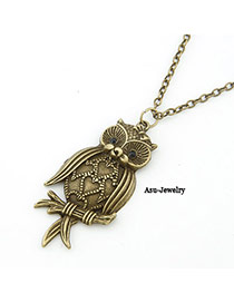 Baggy Bronze Carve Owl Alloy Chains