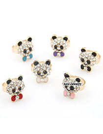 Executive Color will be random Cute Bear Alloy Korean Rings