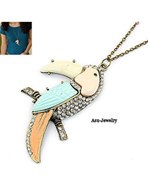 2011 Multicolour Parrot Pendant Alloy Chains
