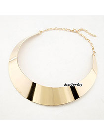 Bendable Gold Color Round Shape Decorated Simple Design Alloy Chains