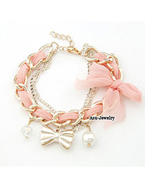 Unusual Pink Lace Bow