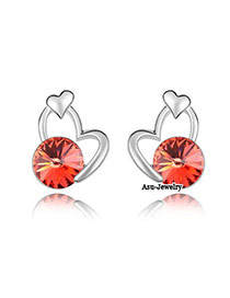 Mobile Red Earrings Alloy Crystal Earrings