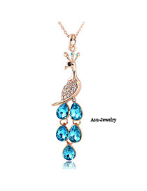 Royal Skyblue Peacock Priceness Zircon Chains
