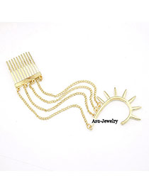 Celtic Gold Color Comb Tassels Charm Design Alloy Korean Earrings