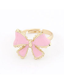 Parker Pink Bow Alloy Korean Rings