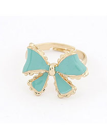 Legal Blue Bow Alloy Korean Rings
