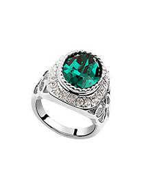 Patagonia Green Rings Alloy Crystal Rings
