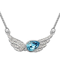 Corduroy sea Blue Temptation Of An Angel Crystal Crystal Necklaces