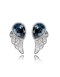 Waist Blue Black Blue Earrings Alloy Crystal Earrings