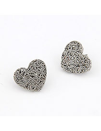 Scene Antique Silver Weave Heart Shape