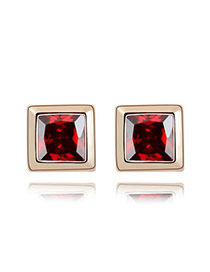 Teen Red Earrings Alloy Crystal Earrings