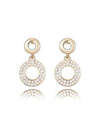 2011 White Earrings Alloy Crystal Earrings